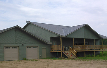 Newly finished single family home built with materials supplied by Long Prairie Lumber